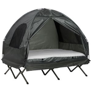 Extra Large Compact Pop Up Portable Folding Outdoor Elevated All in One Camping Cot Tent Combo Set for Sale in Chino, CA