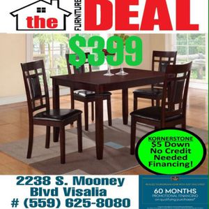 5- PC Dining Set Includes: Table W/4-Chairs for Sale in Tulare, CA