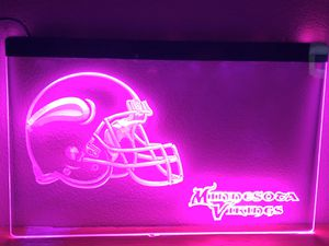 """Minnesota Vikings Lighted Sign (8""""x12"""") for Sale in IL, US"""