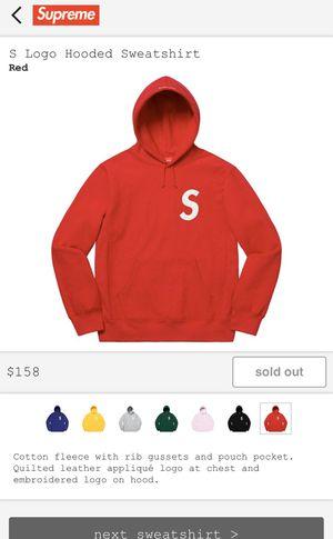 "Supreme ""s logo"" hoodie large for Sale in Herndon, VA"