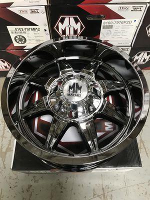 "Brand New 20"" Inch Mayhem Monstir Chrome 20X9 Wheels Rims Rines 5X150 5X5.91 5X5.5 5X139.7 for Sale in Austin, TX"