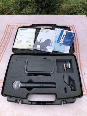 Shure PGX4 Wireless Receiver W/ BETA 58A PGX2 SM58 Wireless Microphone & Case for Sale in Hoffman Estates, IL