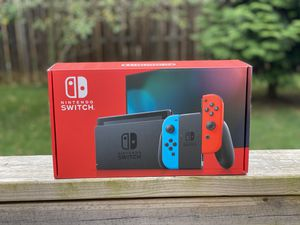 Nintendo Switch Console with Neon Red and Neon Blue Joy Con Brand New for Sale in Red Lion, PA