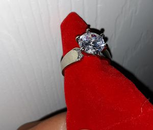 Real silver white cz ring de plata 8 for Sale in Houston, TX