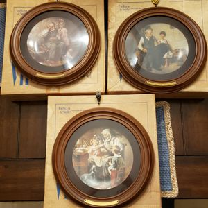 Norman Rockwell Set of 3 Vintage, Framed #'D Limited Edition Plates SOLD TOGETHER read description for Sale in West Palm Beach, FL