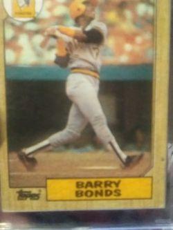 1987 TOPPS Barry Bonds Rookie Card for Sale in Yakima,  WA