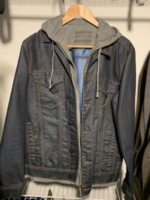 RING OF FIRE Jacket - Navy Blue / Grey Hoodie for Sale in Arlington, VA