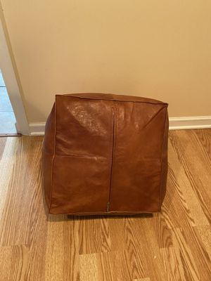 Authentic Moroccan Squsre Pouf for Sale in Springfield, VA