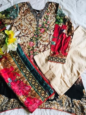 Each 35 three pieces. Brand new traditional colorful clothes/dress. Includes dress pants/shalwar and a scarf. Pick up only. for Sale in Silver Spring, MD