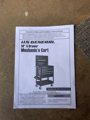 "US GENERAL 30"" 5 Drawer Mechanic's Cart. Brand new... for Sale in Chicago, IL"