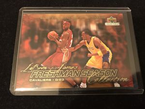 LeBron James 2003-04 Upper Deck Freshman Collection #39 RC vs Kobe Bryant for Sale in Ontario, CA