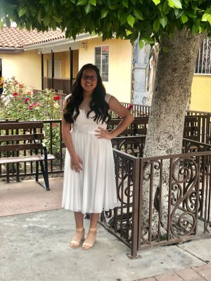 Women's Size 10 white formal dress. Holy communion dress. Baptism dress. Wedding dress for Sale in Pico Rivera, CA