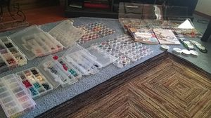 Swovorski crystal,crystal, glass& semi precious. Stones bead collevtion for Sale in Boring, OR