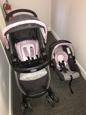 Graco FastAction Fold Click Connect Travel System, Janey AVAILABLE FOR PICK UP ONLY NORWALK CT for Sale in Norwalk, CT