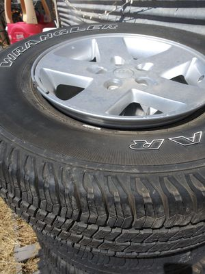 jeep Rubicon wheels and tires for Sale in Madera, CA