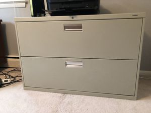 2 drawer lateral file cabinet for Sale in Alexandria, VA