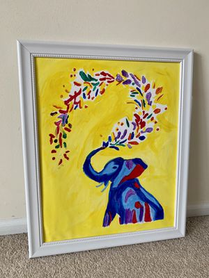Elephant Painting Framed for Sale in Alexandria, VA