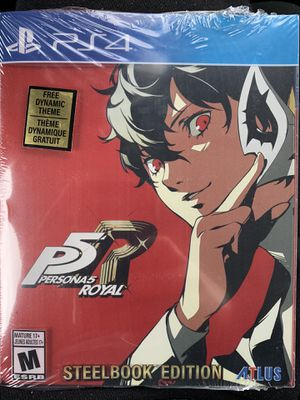 Persona 5 royal steelbook edition ps4 for Sale in Annandale, VA