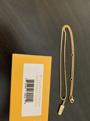 18K Gold Plated Popsicle Pendant and Chain - $12 🎁 for Sale in Fullerton, CA
