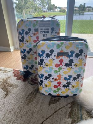 AMERICAN TOURISTER 2 Piece DISNEY MICKEY MOUSE LUGGAGE NIB for Sale in Kissimmee, FL