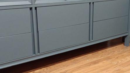Beautiful Rare Ocean Blue Vintage Mid-century Solid Wood Dresser! for Sale in Pomona,  CA
