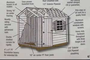 New 6' x 8' Wood Shed for Sale in Rehoboth, MA