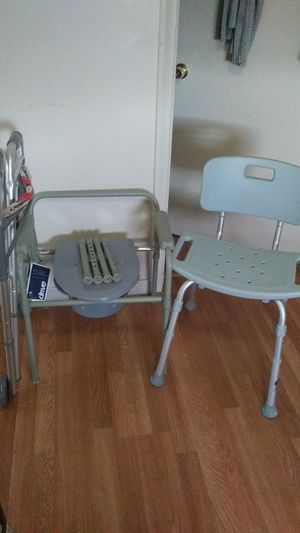 Walker, Potty chair and Bath seat for Sale in McKees Rocks, PA