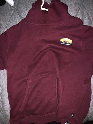 Vans maroon hoodie kids large for Sale in Washington, DC