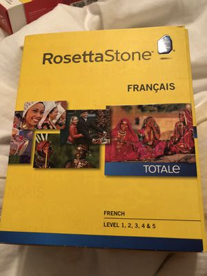New box french ROSETTA STONE language learning teaching tool computer-based software totale level 1, 2, 3, 4 & 5 francais for Sale in Phoenix, AZ