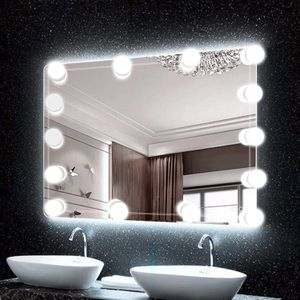 14 Dimmable Light Bulbs for Full Body Length Mirror and Bathroom Wall Mirror, Plug in Mirror Lights with Power Supply, White (No Mirror Included) for Sale in New York, NY