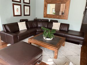 Leather Couch Sectional for Sale in Los Angeles, CA