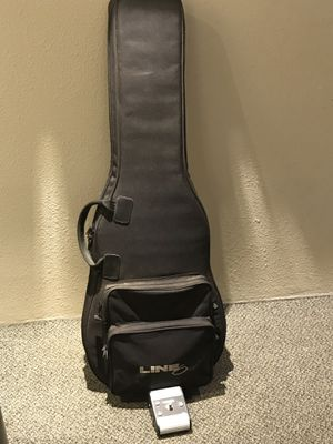 Line 6 Electric Guitar Gig Bag & Switch Pedal for Sale in Lewis McChord, WA