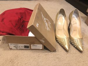 Christian Louboutin Gold Spiked Heels for Sale in Porter Ranch, CA