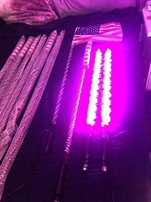 Led lighted whips (brand new) 4,5ft color changing for Sale in HUNTINGTN BCH, CA