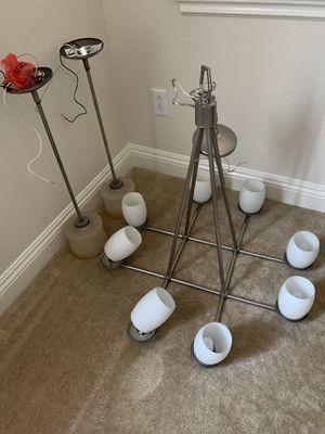 Lighting Fixtures package chandelier & Two Pendant Lights for Sale in La Habra, CA
