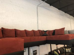 Red on Black Three Piece Sectional Sofa 💥💥💥FINAL SALE TAKE HOME TODAY💥💥💥 for Sale in Miami, FL