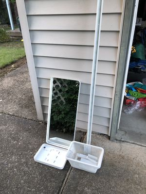 IKEA Hang Mirror w/ Basket & Tray for Sale in Tigard, OR