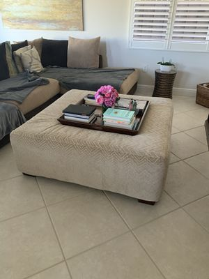Ottoman and tray for sale for Sale in Miami, FL