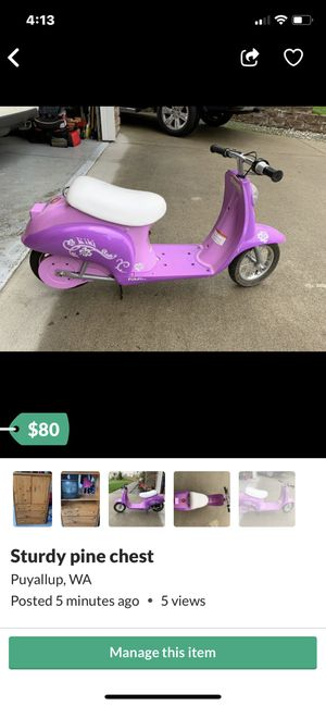 Electric razor scooter. for Sale in Puyallup, WA