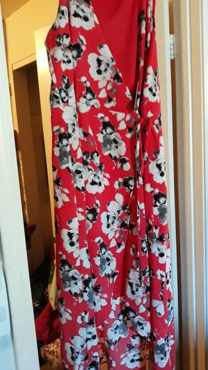 Red dress with white Flowers for Sale in West Jordan, UT