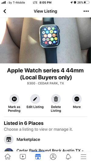 Apple Watch series 4 44mm (local pick up only ) for Sale in Cedar Park, TX