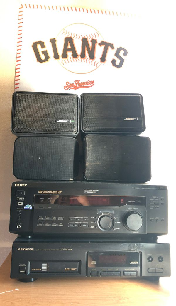 Sony Receiver and pioneer multi disc changer w/ Bose speakers