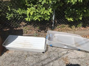 Under the bed storage containers with wheels for Sale in Brandon, FL