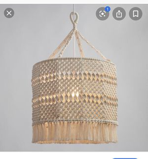Macrame hanging light shade (just shade) for Sale in Irvine, CA