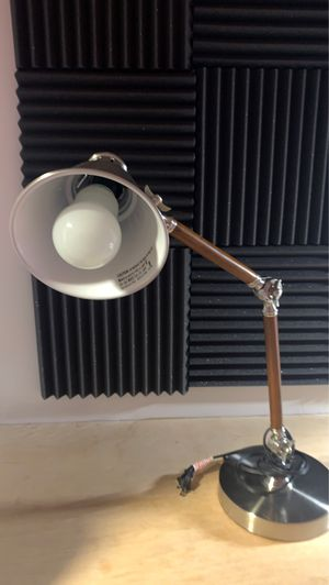 Antique silver and wood finish desk lamp for Sale in San Jose, CA
