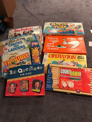 Assortment of kid's games for Sale in Fairfax, VA