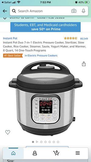 BRAND NEW - still in box!!! Instant Pot Duo 7-in-1 Electric Pressure Cooker, 8quart for Sale in Costa Mesa, CA