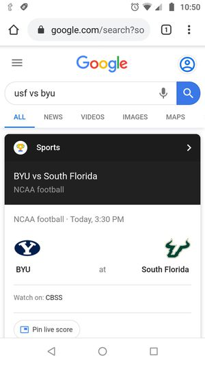 2 tickets to USF vs BYU college football game for Sale in Tampa, FL
