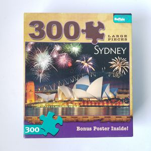 Buffalo Jigsaw Puzzles 300 Large Pieces Sydney Opera House Aussie & bonus Poster for Sale in St. Petersburg, FL