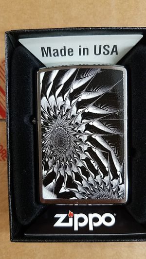 Zippo metal abstract brushed chrome 29061 for Sale in Los Angeles, CA